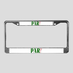 PAR-tee License Plate Frame