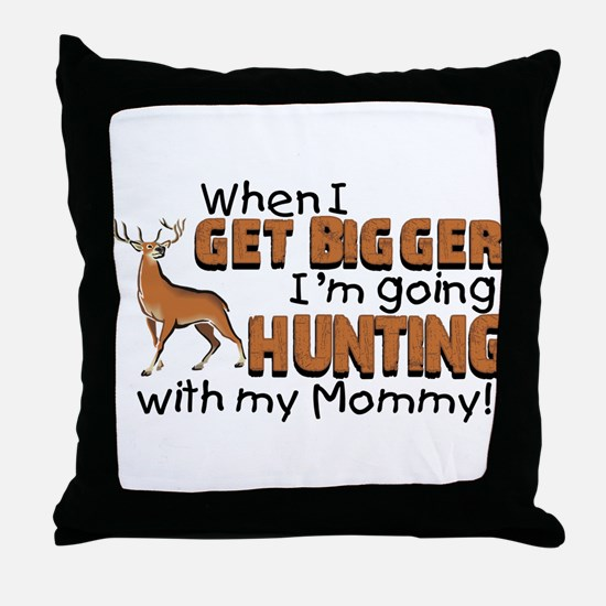 Hunting With Mommy Throw Pillow