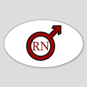 RN Man Sticker (Oval)