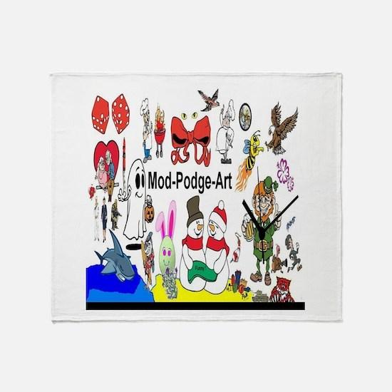 Mod Podge Art Throw Blanket