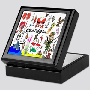 Mod Podge Art Keepsake Box