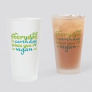 Vegan Earth Day Drinking Glass