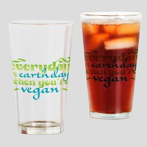 Vegan Earth Day Drinking Glass
