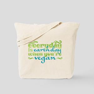 Vegan Earth Day Tote Bag