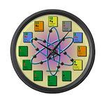 Periodic Table Atomic Large Wall Clock