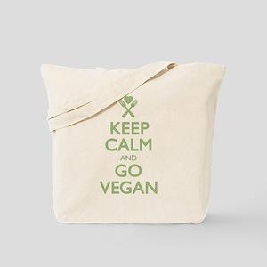 Keep Calm Go Vegan Tote Bag