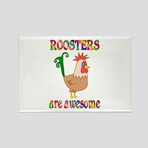 Awesome Roosters Rectangle Magnet