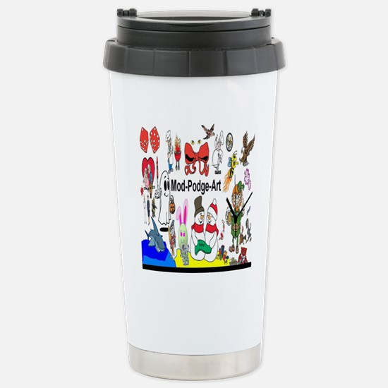 Mod Podge Art Stainless Steel Travel Mug