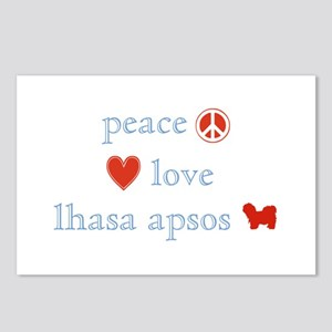 Peace, Love & Lhasa Apsos Postcards (Package of 8)