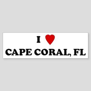 I Love Cape Coral Bumper Sticker