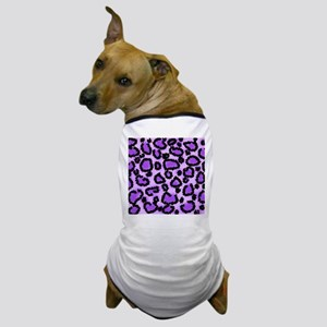 Purple Leopard Print Pattern Dog T-Shirt