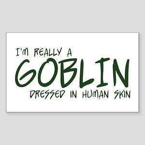 I'm Really a Goblin Sticker (Rectangle)