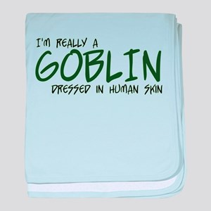 I'm Really a Goblin baby blanket