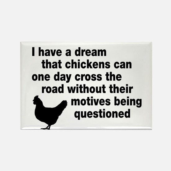 Chickens Motives Rectangle Magnet