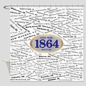 1864 Civil War Battles Shower Curtain