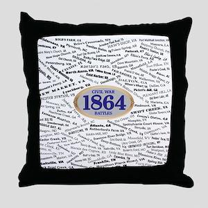 1864 Civil War Battles Throw Pillow