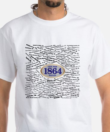 1864 Civil War Battles White T-Shirt