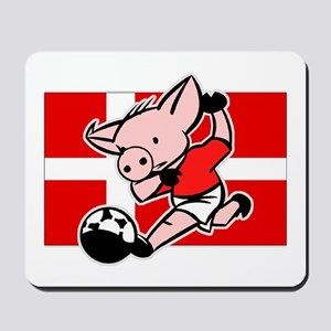 Denmark Soccer Pigs Mousepad