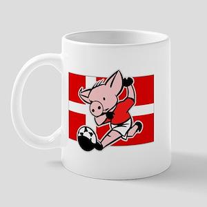 Denmark Soccer Pigs Mug