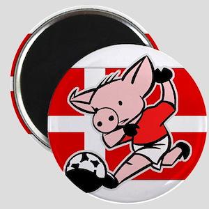 Denmark Soccer Pigs Magnet