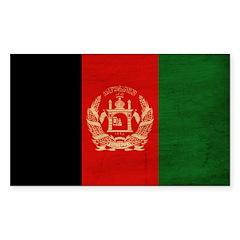 Afghanistan Flag Sticker (Rectangle)