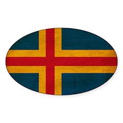Aland Flag Sticker (Oval 10 pk)