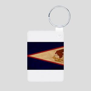 American Samoa Flag Aluminum Photo Keychain