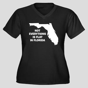 Florida Women's Plus Size V-Neck Dark T-Shirt