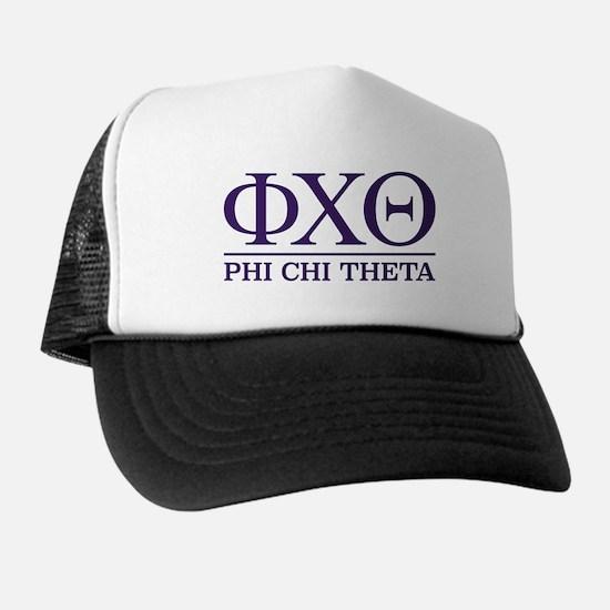 Phi Chi Theta Fraternity Letters Trucker Hat