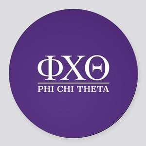 Phi Chi Theta Fraternity Letters Round Car Magnet