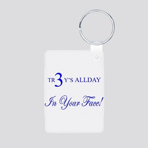 TR3Y'S ALLDAY-In Your Face! Aluminum Photo Keychai