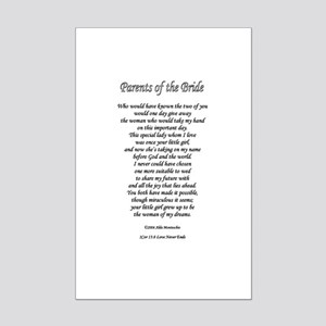 Parents of the Bride Mini Poster Print