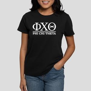 Phi Chi Theta Fraternity Lett Women's Dark T-Shirt