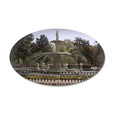 Forsyth Park Fountain 22x14 Oval Wall Peel