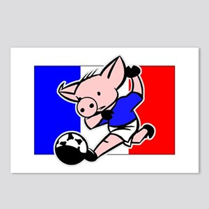 France Soccer Pigs Postcards (Package of 8)