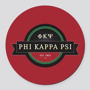Phi Kappa Psi Fraternity Letters Round Car Magnet