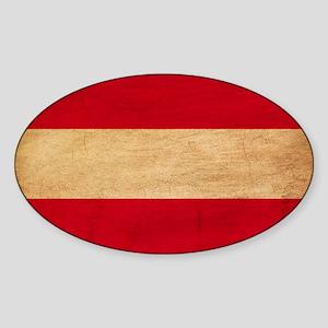 Austria Flag Sticker (Oval)