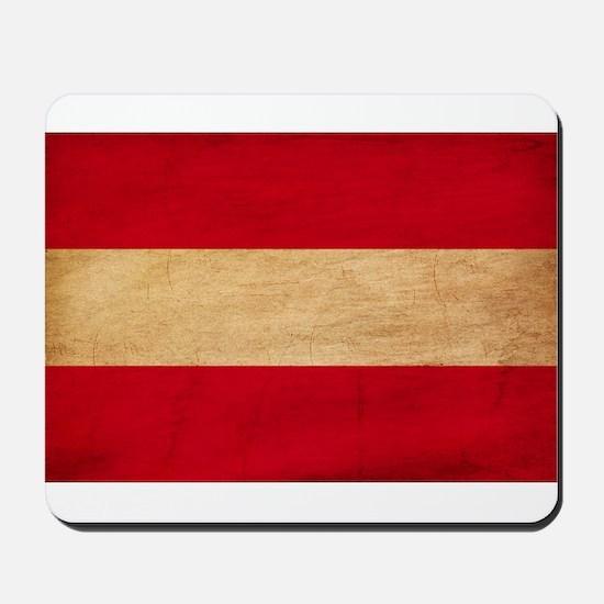 Austria Flag Mousepad