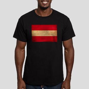 Austria Flag Men's Fitted T-Shirt (dark)