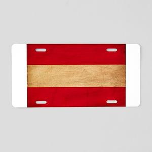 Austria Flag Aluminum License Plate
