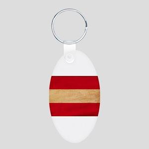 Austria Flag Aluminum Oval Keychain
