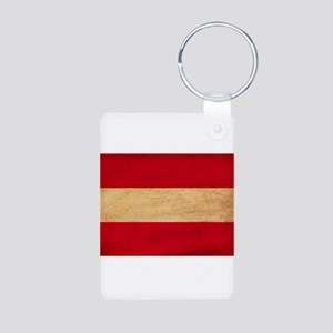 Austria Flag Aluminum Photo Keychain