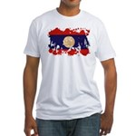 Laos Flag Fitted T-Shirt