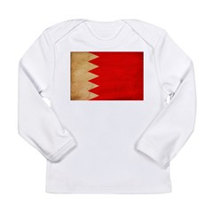 Bahrain Flag Long Sleeve Infant T-Shirt