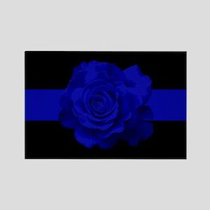 PoliceWives.Org Blueline Rectangle Magnet