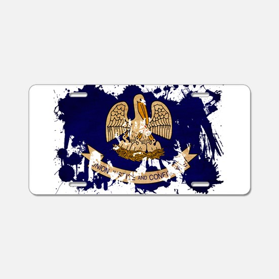 Louisiana Flag Aluminum License Plate