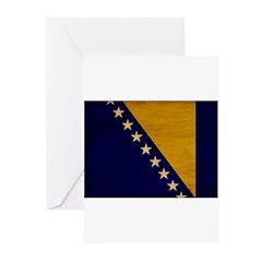 Bosnia and Herzegovina Flag Greeting Cards (Pk of