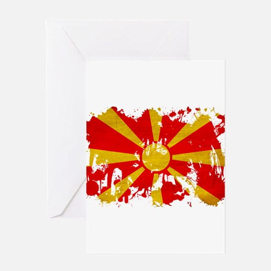 Macedonia Flag Greeting Card