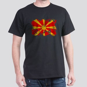Macedonia Flag Dark T-Shirt