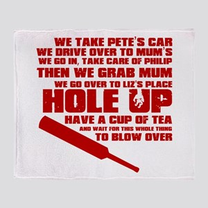 Hole Up Throw Blanket